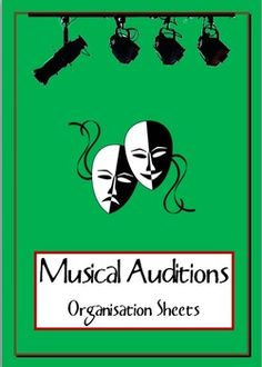 MUSICAL: Audition sheets. Be prepared for the audition process for your next school musical.   FIVE documents to save you time and keep you organised!