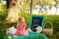 I love everything about Easter pictures. Getting your little ones all dressed up, the flowers, the colors, everything!! This little lady cou...