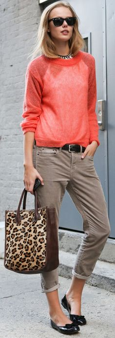 Love that color and the sheer-iness of the sweater