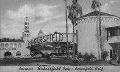 Bakersfield Inn, Original Position of the Bakersfield Sign over Union Avenue - Bakersfield, CA