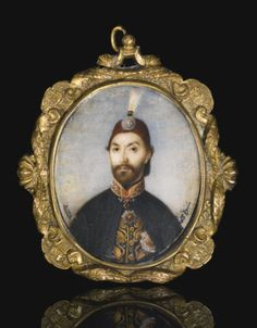 A miniature portrait (tasvir-i humayun) of Sultan 'Abdulmecid I (r.1839-61), signed by Sebuh Manas, Turkey, dated 1271 AH/1854 AD