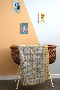 Stoere gehaakte babydeken – Cuddlycool Easy Knitting Patterns, Knitting Projects, Crochet Patterns, Diy Crochet, Diy Craft Projects, Baby Room, Wicker, Furniture, Home Decor