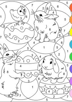 Раскраска Пасхальный рисунок, скачать и распечатать раскраску раздела По номерам