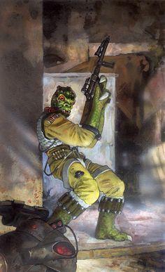 Star Wars: Bossk by ~TereseNielsen on deviantART