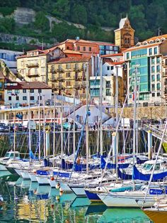 My favorite city in all of Spain! San Sebastian, Spain Old town and marina Oh The Places You'll Go, Places To Travel, Places To Visit, San Sebastian Spain, Madrid, Barcelona, Biarritz, Voyage Europe, Basque Country