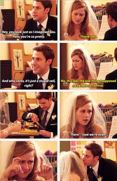 Jim being the perfect man, perfect groom, perfect person. I want that perfection. The two as a couple are absolutely magical!
