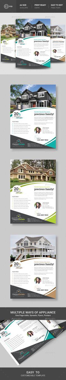 #Real #Estate #Flyer - Commerce Flyers Download here: https://graphicriver.net/item/real-estate-flyer/19529822?ref=alena994