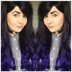 Image of Blackberry Dip, Black Purple Dip Dye Ombre Curls Waves Gothic Lolita Cosplay Wig Purple Dip Dye, Lolita Cosplay, Cosplay Wigs, Gothic Lolita, Geisha, Curls, Dress Up, Waves, Blackberry