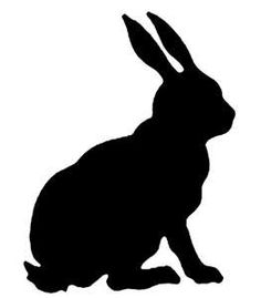 rabbit silhouette, cut out lg out if plywood for lawn deco?