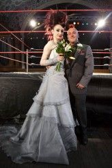 OMG a wrestling themed wedding... DO NOT TELL PETE people do this.