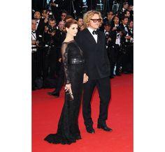 La montée des marches du film The Immigrant Festival de Cannes 2013 Peter Dundas and Clotilde Courau in Emilio Pucci