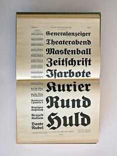 Type specimen: Hauptprobe J.G.Schelter & Giesecke Leipzig. 1. Band. Schriften & Messinglinien. Leipzig, Schelter & Giesecke, 1912