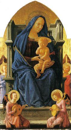 Masaccio, Madonna in trono col bambino, 1426, tempera su tavola, National Gallery, Londra