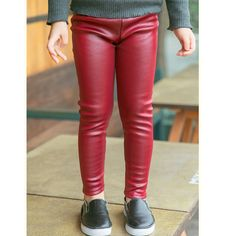 98756e3c5 Aliexpress.com : Buy Baby Kids Fleece Leather Legging Children Girl Winter  Warm Thick Legging Pants Girls Faux Leather Solid Full Skinny Pencil Pants  from ...