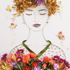 """""""Feed Your Soul"""" Flower Face Print 