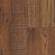 Home Decorators Collection Distressed Brown Hickory 12 mm x 6.26 in. x 50.78 in. Laminate Flooring (15.45 sq. ft. / case)-34074SQ - The Home Depot