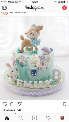 Ideas For Cupcakes Cakes Designs Decorating Ideas Girl Cakes, Baby Cakes, Cute Cakes, Yummy Cakes, Fondant Cakes, Cupcake Cakes, Fondant Baby, Rodjendanske Torte, Baby Birthday Cakes
