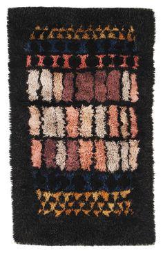 arne lindaas ~ hand-knotted wool 'window' rya rug for sellgren, 1959 ~ Textiles, Rya Rug, Latch Hook Rugs, Patterned Carpet, Rug Hooking, Woven Rug, Soft Furnishings, Rugs On Carpet, Decoration
