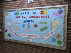 Although i just realized I don't have an installed bulletin board outside my classroom door. Guess I will have to make one :-) Disability Awareness Month, Autism Awareness Day, Teacher Education, Special Education, Classroom Organization, Classroom Door, Classroom Design, Classroom Ideas, Nursing Board