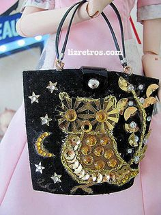 """Gene and Pals  Repro Enid Collins Style """"Owl""""  Purse by RETROS"""