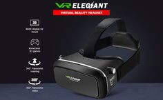 VR Elegiant Headset Review Virtual Reality Headset, Vr Headset, Smart Watch, Gadget, Technology, Glasses, Diy, Tech, Eyewear