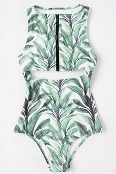 Under $100 Finds From Modcloth To Scoop Up Now #refinery29  http://www.refinery29.com/modcloth-clothes-under-100-dollars#slide-10  For your next vacay, here's a monokini you won't want to leaf behind!