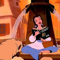 Belle knows what's up. #hunger games