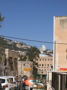 Looking from Jona St. towards the Bahai Temple. In Hadar HAIFA , photo mirjam Bruck-Cohen