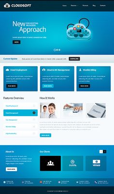 LIVE DEMO: Website Design Template 39724: enterprise solution business industry technical clients customer support automate flow…