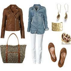 Saturday Cheetah - loving white, denim and brown lately. Perfect for summer.