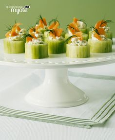 You don't need to purchase a lot of upscale ingredients. A little bit goes a long way in these small-bite appetizers. Finger Food Appetizers, Finger Foods, Appetizer Recipes, Pbs Cooking Shows, Retro Recipes, Ethnic Recipes, Smoked Salmon, What To Cook, St Patrick