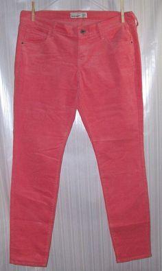OLD NAVY Beach Party Pink Size 12 Rockstar Tapered Ladies Corduroy Pants #OldNavy #Corduroys