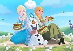 Frozen - Queen Elsa x Princess Anna - Elsanna Frozen Fan Art, Frozen And Tangled, Frozen Elsa And Anna, Disney Frozen, Elsa Anna, Frozen Pics, Frozen Queen, Elsa Olaf, Frozen Heart