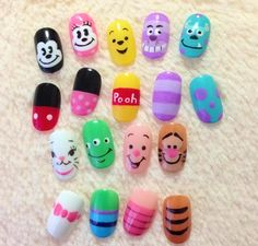 Disney nails!!!! yess, i really want to do some stuff like this