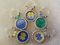 College Football Party Favors and Decorations, wine charms and more, pick your team or mix and match teams, NFL or any sports team, just ask. We make wine charms and more