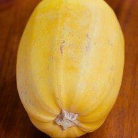 Many online recipes for how to cook spaghetti squash in the oven will tell you to poke holes in the squash and bake it at 350 F… butthis is a HUGE mistake!