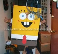 Spongebob Costume: I made the coolest life size  (for a 10 year old) SpongeBob Squarepants costume. It has been a contest winner for 3 years, on three different kids and