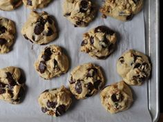 Chunky chocolate chip-walnut cookies from Serious Eats