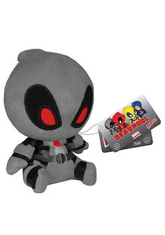 Cuddly and adorable, this Funko plush doll Deadpool series features a classic Red Deadpool, the X-Force Gray Deadpool, X-Men era Blue Deadpool, and inverse suit Yellow Deadpool.