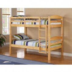 Twin Bunk Bed Frame - Similar to standard twin college beds. Bed frame dimensions : x W