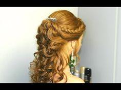 ▶ Prom, bridal hairstyles for long hair. Прическа на выпускной, свадебная прическа. - YouTube