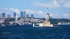 Maiden's Tower and Submarine by cokbilmis