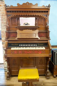 This old air bellows organ was made in Ottawa kansas and still works. It is in excellent condition. we are selling it for 2000 Ottawa Kansas, Antique Furniture For Sale, Great Places, Art Deco, Train, Antiques, Antiquities, Antique, Strollers
