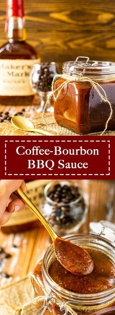 This coffee bourbon BBQ sauce is the best BBQ sauce recipe you'll ever try! With the perfect spicy, smoky kick, this homemade bbq sauce recipe is delicious on all your grilled meats. Everyone loves this boozy BBQ sauce! #coffeebourbonbbqsauce #bourbonbbqsauce #bestbbqsauce #boozybbqsauce #coffeebbqsauce #besthomemadebbqsauce Best Bbq Sauce Recipe, Homemade Bbq Sauce Recipe, Savory Sauce Recipe, Sauce Recipes, Entree Recipes, Vegan Recipes Easy, Side Dish Recipes, Grilling Recipes, Cooking Recipes