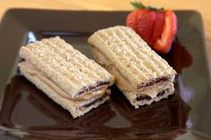 Nutri-Nut: Strawberry-filled granola bar sandwiches with a Smooth Operator peanut butter filling.