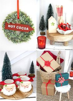 How to Set Up a Hot Chocolate Bar for The Holidays - festive Christmas decor, hot cocoa bar toppings and ideas for styling a hot drinks station at home! #christmas #hotcocoa #hotchocolate #hotcocoabar #hotcocoastation #christmascoffeebar #coffeebar #holidayhotcocoabar #holidayhotcocoa