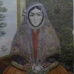 Khorshid Khanoom, painted by Mirza Abolhassan Khan Ghafari in 1843