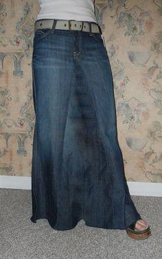 Maurice Long Jean Skirt