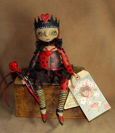 Queen of Hearts Doll by Outside the Box Primitives