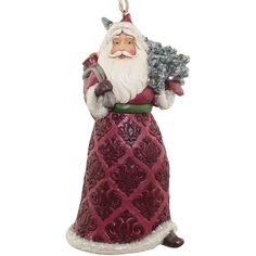 Jim Shore Victorian Santa With Bag Of Toys & Tree Hanging Ornament ($24) ❤ liked on Polyvore featuring home, home decor, holiday decorations, multi, inspirational home decor, santa claus ornaments, victorian ornaments, jim shore and santa ornaments